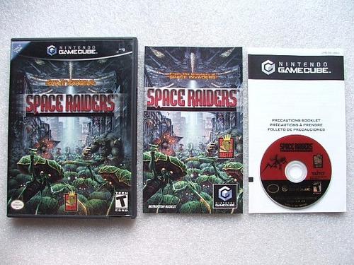 game cube: space raiders americano completo!! raríssimo!!