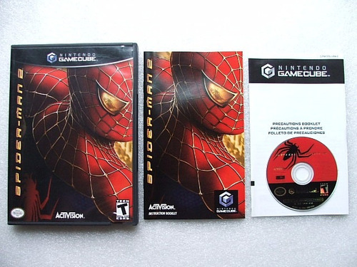 game cube: spider-man 2 americano completo!! raríssimo!!