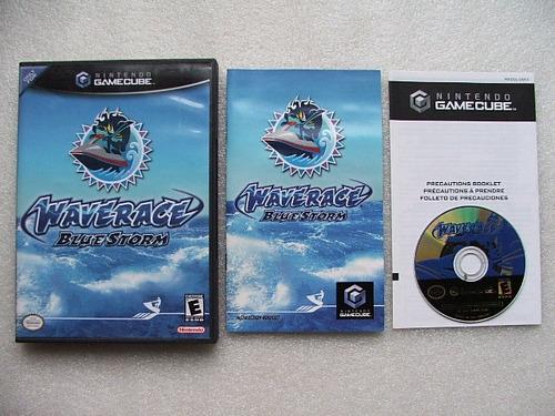 game cube: wave race blue storm americano completo! jogaço!
