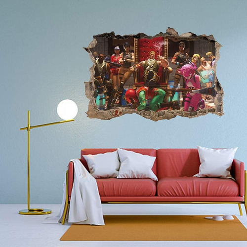 game decal d smashed wall sticker home decor art mural...
