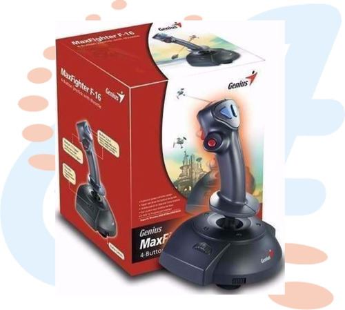 game joystick genius max fighter f-16u 4 botones acelerador