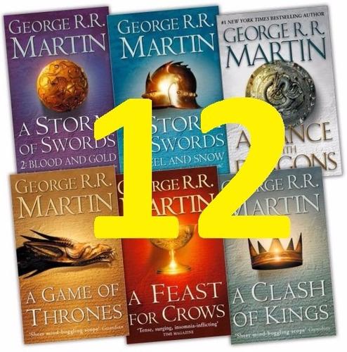 game of throne colección - juego de tronos 12 libros + mapas