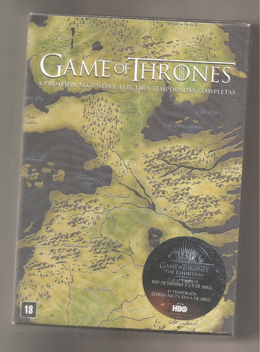 game of thrones 1ª a 3ª temporada 15 dvds box lacrado