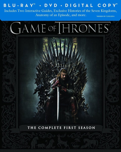 game of thrones: 1ª temporada - blu ray - importado