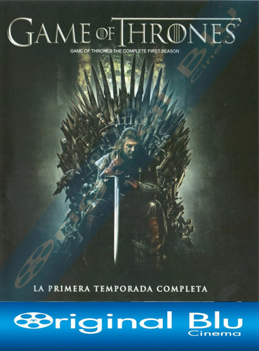 game of thrones 1ra. temporada - blu ray original - 5 discos