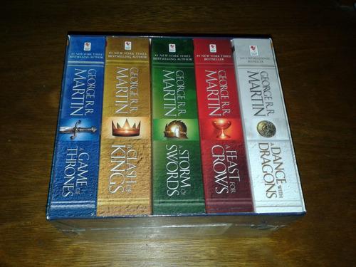 game of thrones - 5 livros - em inglês