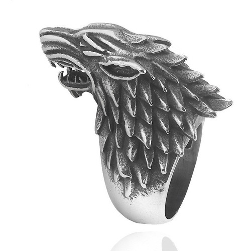 game of thrones anillo casa stark lobo 1.9cm ned arya sansa