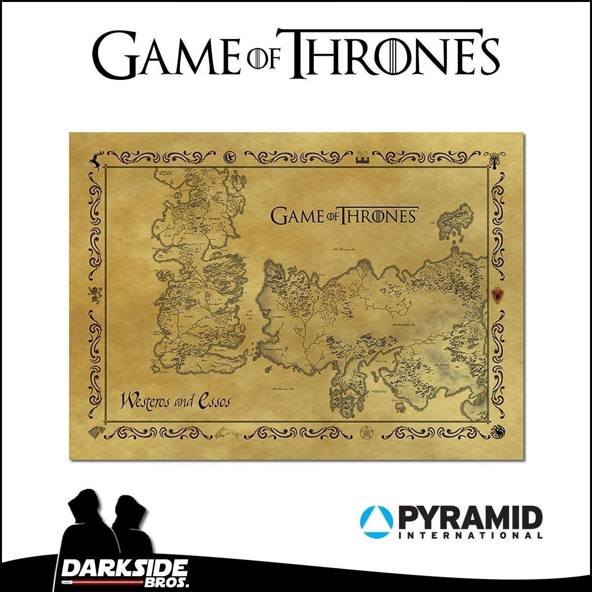 Game of Thrones Antique Map Postcard