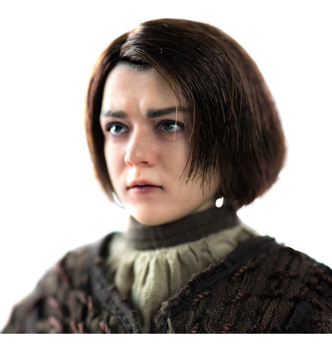 game of thrones arya stark 1/6 threezero robot negro