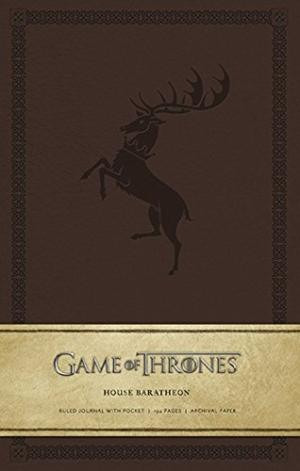 game of thrones, casa baratheon - libreta con renglones