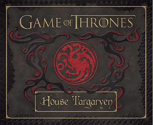 game of thrones, casa targaryen - set de papelería deluxe