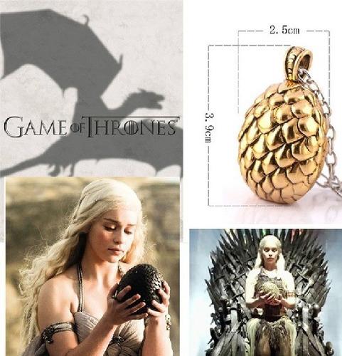game of thrones collar huevo de dragón cancion de hielo y fu