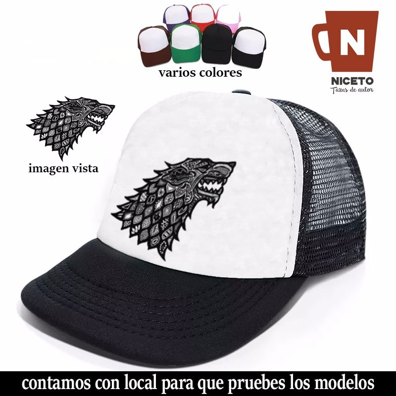 e183209babe27 Game Of Thrones Gorra Trucker Coleccion Casa Stark Lobo Nice -   402 ...