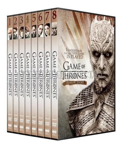 game of thrones importe por temporada 8 dvd ingles latino