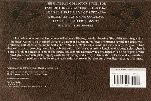 game of thrones juego de tronos 5 libros piel ingles msi