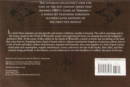 game of thrones juego de tronos box set 5 libros ed. de lujo