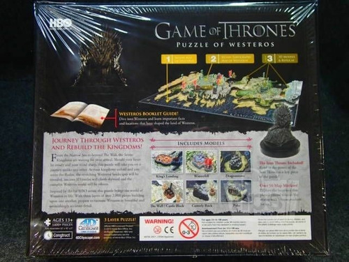 game of thrones (juego de tronos). rompecabezas 4d. nuevo
