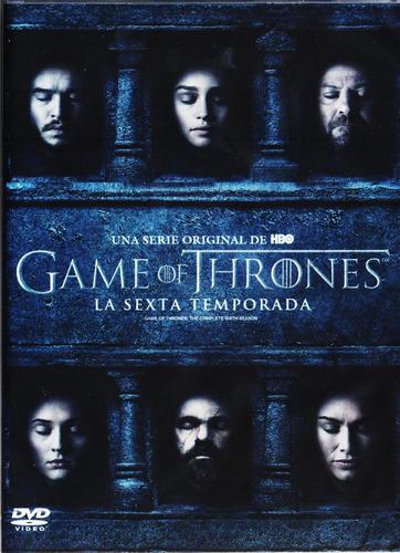 game of thrones juego de tronos sexta temporada 6 seis dvd
