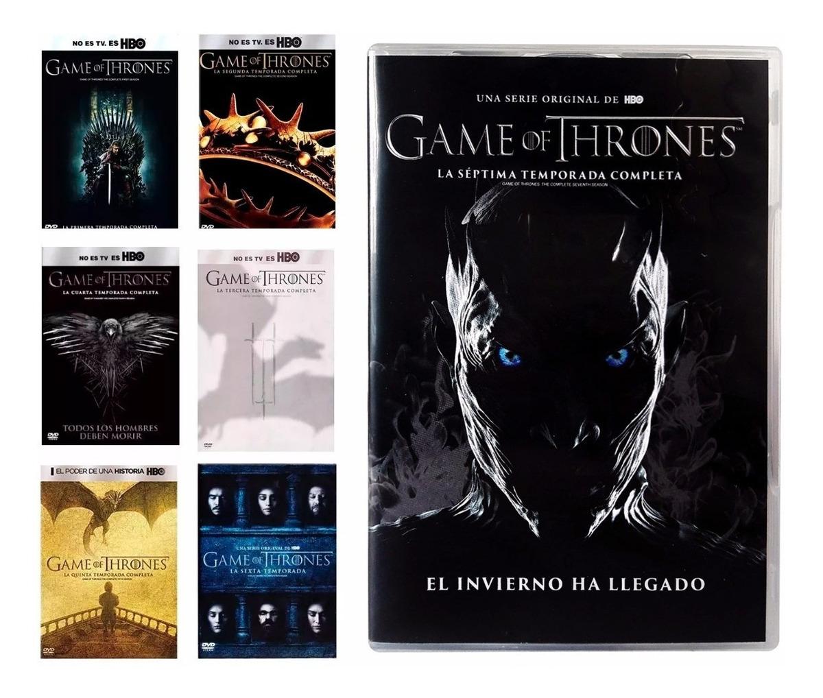 Game Of Thrones Juego De Tronos Temporadas 1 2 3 4 5 6 7 Dvd ...