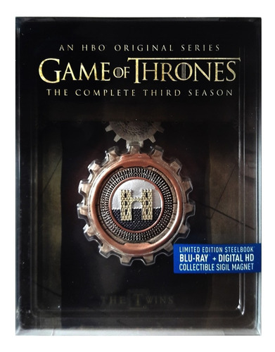 game of thrones juego tronos temporada 3 steelbook blu-ray