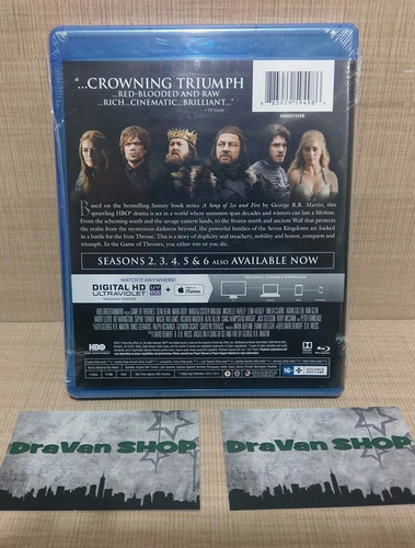 game of thrones. primera temporada. blu ray