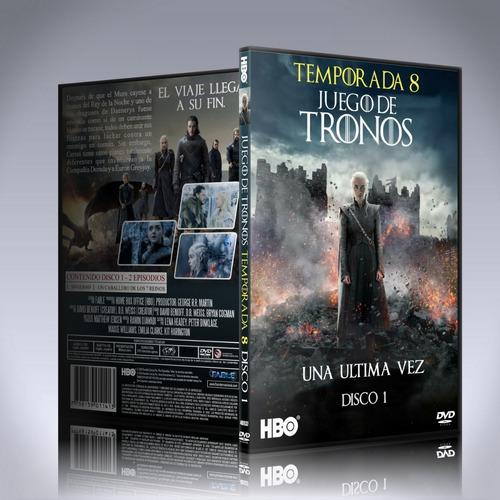 game of thrones temporada 8 completa dvd latino/ingles