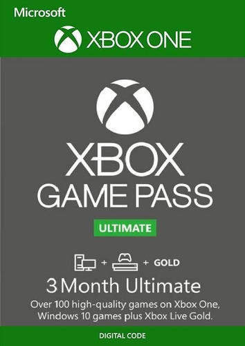 game pass ultimate 3 meses xbox gold + game pass