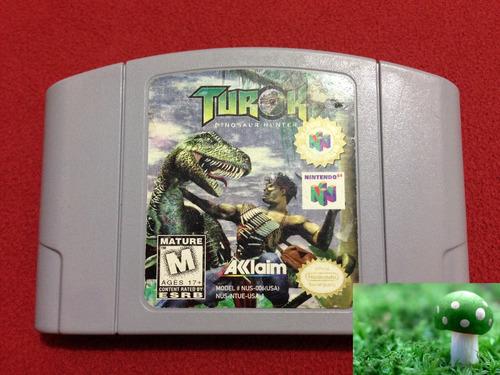 game turok dinosaur hunter para nintendo 64, perfecto estado