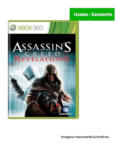 game xbox 360 assassin's creed revelations - usado excelente