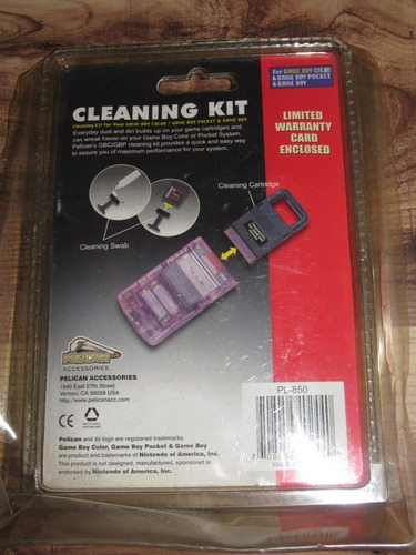gameboy color cleaning kit sellado