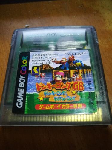 gameboy color+ dk land 3 japones+cargador