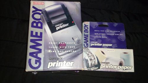 gameboy printer con caja 2 rollos extra como nueva