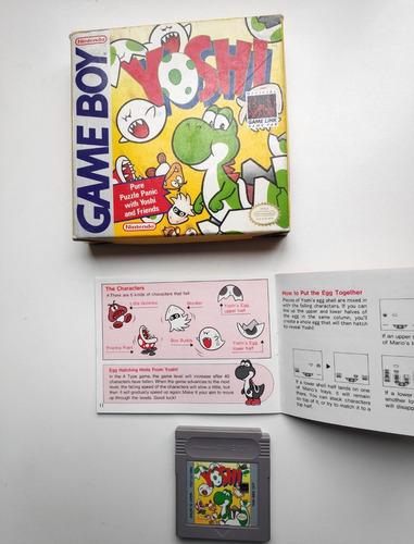 gameboy yoshi en caja original y manuales de colección