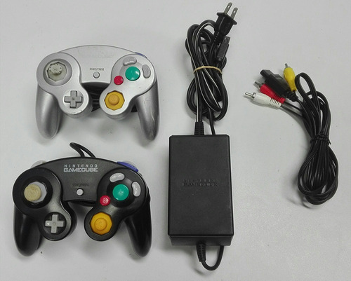 gamecube nintendo chipeado controles + metroid - ofertazo!