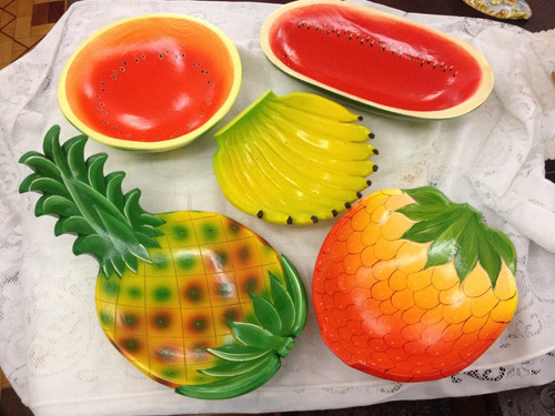 gamela artesanal frutas diversas
