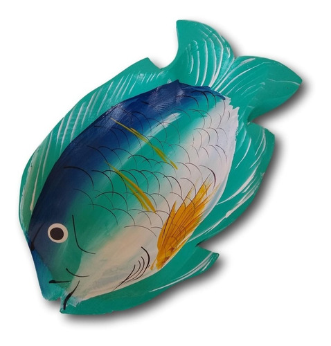 gamela/travessa de madeira peixe decoração ref.0631