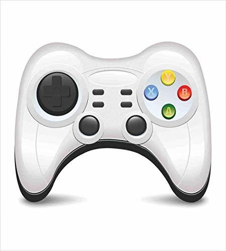 Modern Gamepad with Colorful Action Buttons with Joysticks and D-Pad Charcoal Grey Pale Grey nev/_57352/_queen Lunarable Gamer Duvet Cover Set Queen Size Decorative 3 Piece Bedding Set with 2 Pillow Shams