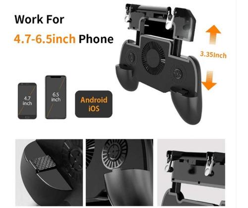 gamepad con ventilador powebank 2000mhz + boton l1 r1