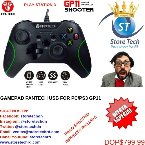 gamepad fantech usb for pc/ps3 gp11