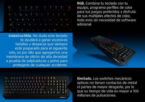 gamer game teclado