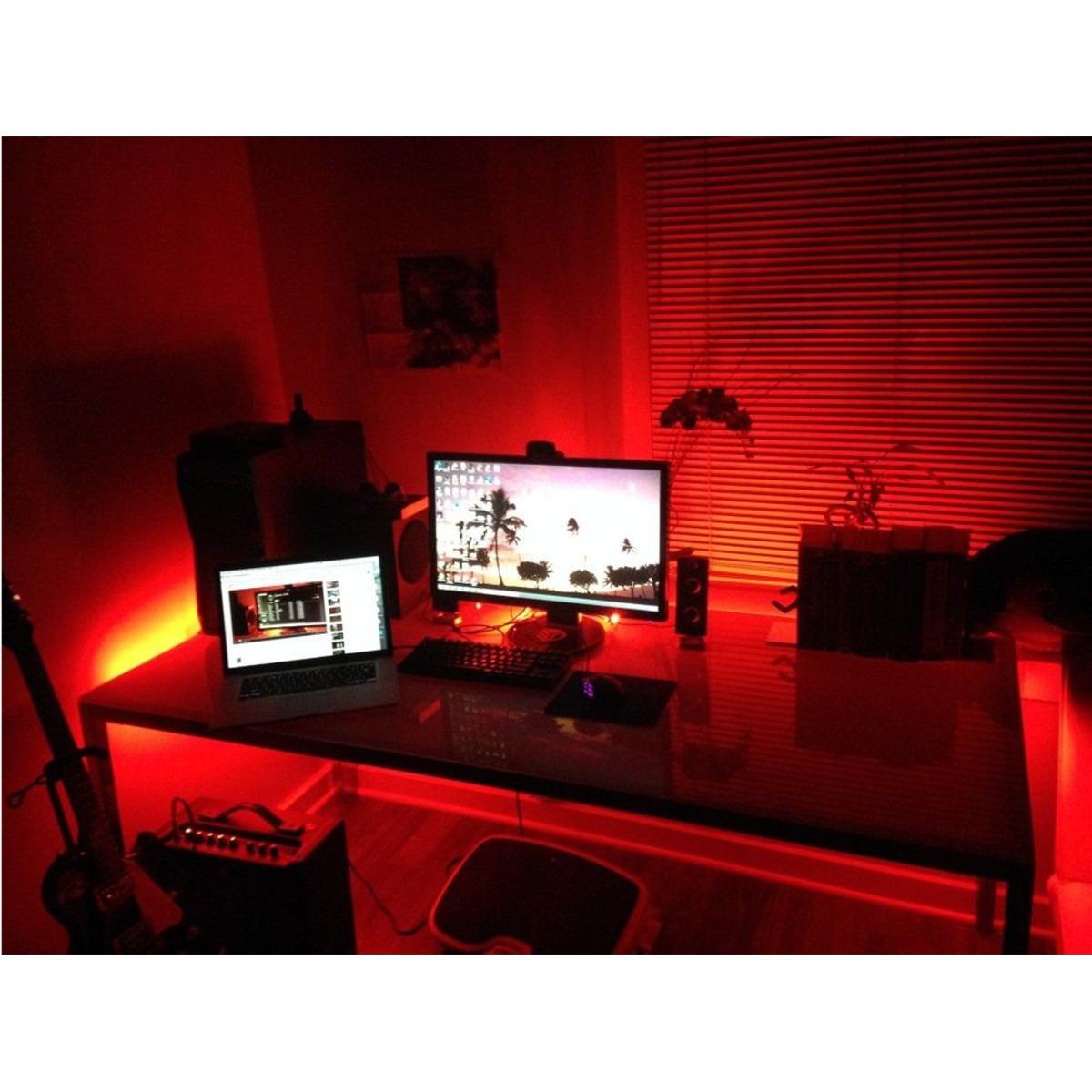 Gaming Computadora Escritorio Led Kit De Luz Oficina Casa Me ...