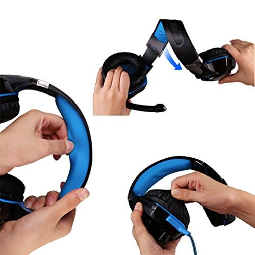 gaming headset con micrófono para pc, ps4, xbox one, auricu