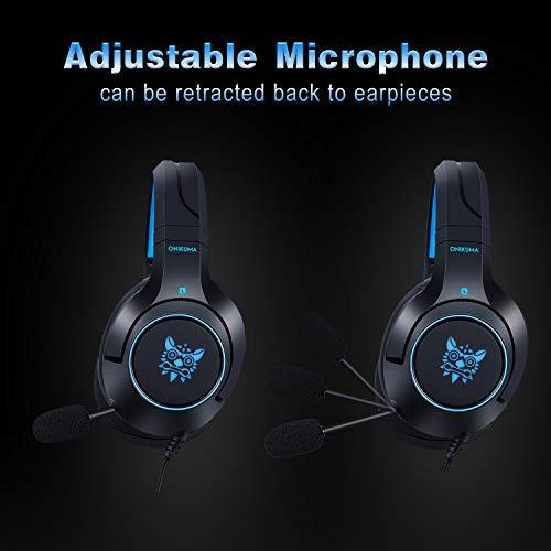 Gaming Headset-onikuma Surround Sound Ps4 Auriculares Micróf