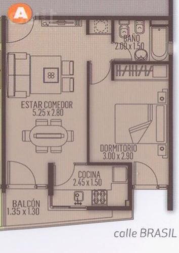 (gan) depto de 1 dormitorio con financiación - nva cba