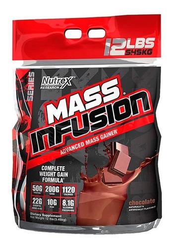 ganador muscular nutrex mass infusion chocolate 12 lbs