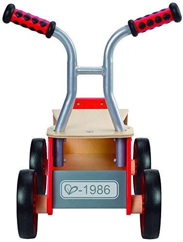 ganador premio hape pequeño rojo rider paseo madera niños bi