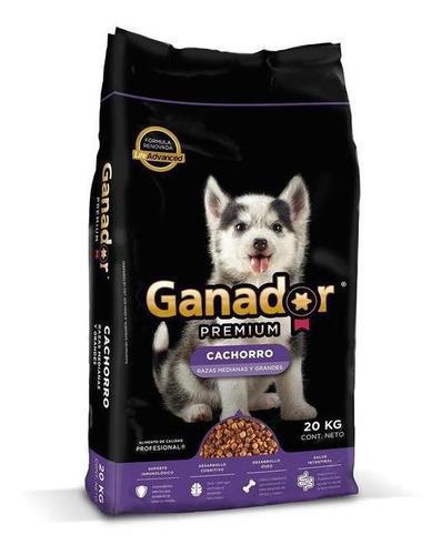 ganador premium alimento perro cachorro 20 kg