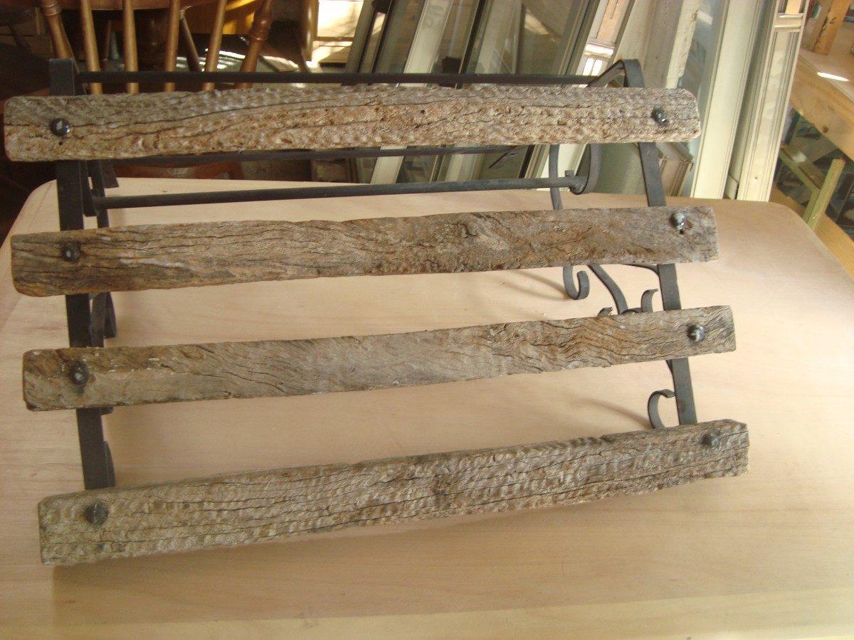 Ganchera de madera rustica estilo campo o gauchesco 1 for Bar de madera estilo campo