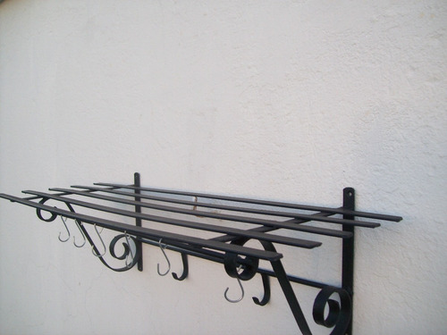 ganchera  repisa de hierro 80cm x 30cm nueva