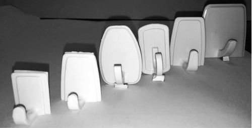 gancho adhesivo perchero reforzado pequeño tarjeta x 12 unid